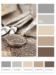 Brown, gray, neutral palette
