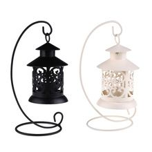 Retro Style Candle Holders Candle Stand Stick Decoration Lantern for Garden, Room, Party, Wedding, Dinner Table Black White(China (Mainland))