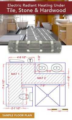 Gallery Website Love using radiant heat floors in bathrooms It us a luxury but also very practical in small rooms Schluter Ditra Heat for Floors Bathroom Hacks