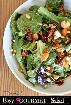 Such an Easy Gourmet Salad #recipe- full of good stuff.  Always a hit.