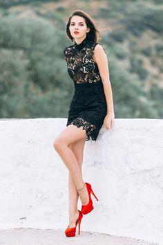 Misha Collection little lace dress - The Golden DiamondsThe Golden Diamonds