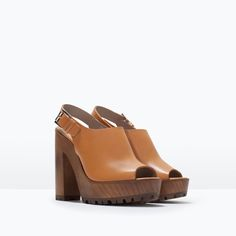ZARA - WOMAN - LEATHER SANDALS WITH TRACK SOLE