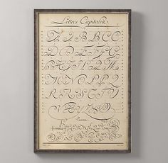 Lettres Capitalea, @Maybelle Imasa-Stukuls  told me about this beauty, lovely, no?