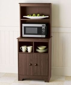 Kitchen Armoire Hutch Storage Microwave Stand Wood