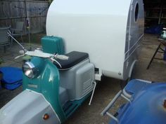 Soviet Era scooter transformed into mobile home