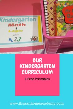Our Kindergarten Curriculum plus Free Printables - Ihsaan Home Academy Creative Curriculum Preschool, Kindergarten Curriculum, Homeschooling Resources, Preschool Themes, Learning Resources, Early Childhood Education, Educational Activities, Early Learning, Muslim