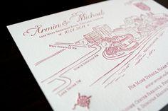 Letterpressed Chicago #wedding map, by Genevieve Walker #maps