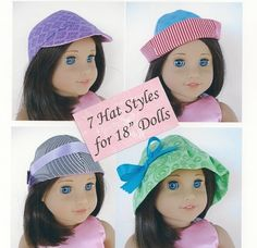 (9) Name: 'Sewing : 18 Inch Doll Hats