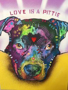 MAKE OFFER • PIT BULL Dean Russo 11x14 ORIGINAL Paper Dog  #deanrusso Pitbull    eBay