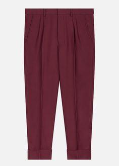 f26132e1ec5 Ami Paris pleated trousers - burgundy