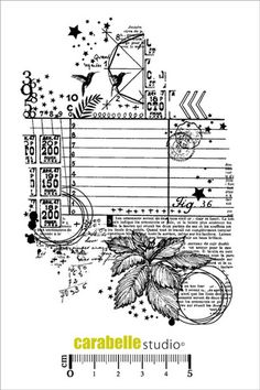 Carabelle Studio Cling Stamp - Collage - Fig 36 - The Rubber Buggy Tim Holtz Stamps, Digi Stamps, Scrapbook Albums, Scrapbook Cards, Tampon Scrapbooking, Etiquette Vintage, Collage, Vintage Paper Dolls, Bullet Journal