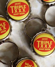 Triple XXX Family Restaurant - Triple XXX Logo Bottle Cap Key Chain/Bottle Opener
