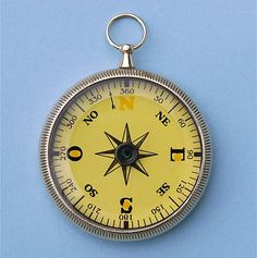 open face compass with a floating compass dial marked 0 - 360 degrees.  See Figure 1.  The beauty of a compass with a floating compass dial is that the compass magnets are built into the floating compass dial, so it automatically aligns to north, and you do not have to align it manually.