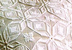 PDF Vintage 1970s 'Popcorn & Lace' Stars Bedspread Crochet Pattern, Boho, Retro, Home-Decor, Biba stylex