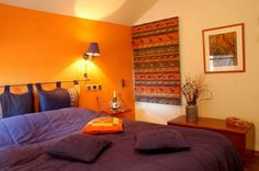 Bedroom Designs: Orange And Purple Bedroom Paint Ideas For Couples ...
