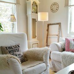 Потертый и очаровательная: Nordic стиль ... в доме Анны