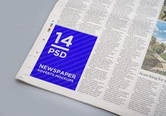 25+ Newspaper Ad Mockup PSD Design Template for Branding