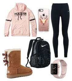 """""""Untitled #22"""" by gabporto on Polyvore featuring NIKE, Hollister Co., UGG and Casetify"""