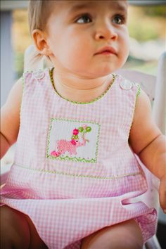 Smocked Clothing  Birthday outfit