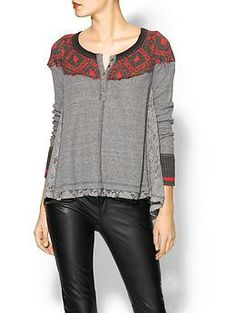 Free People Cabin In The Woods Long Sleeve Top   Piperlime