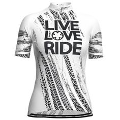 Women's Live Love Ride Short Sleeve Cycling Jersey – Online Cycling Gear – Free Shipping – Lowest Prices! Women's Cycling Jersey, Cycling Wear, Cycling Jerseys, Cycling Outfit, Female Cyclist, Bike Shirts, Live Love, Female Bodies, Bring It On
