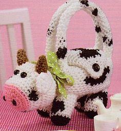 Cute Critter Purses To Crochet  Leisure Arts crochet patterns: Six cute lil children's critter purses to crochet. TOO adorable!