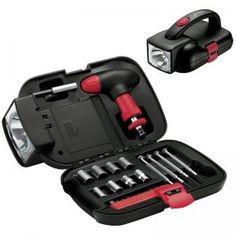 Black Flashlight Auto Tool Kit