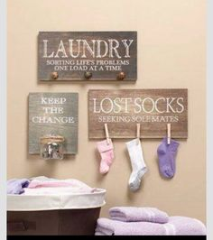 Adorable laundry room idea!