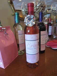 Wine Themed Bridal Shower! Wine Bottle Labels!