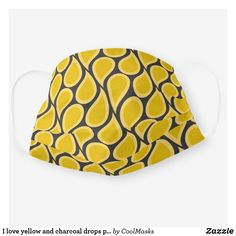 I love yellow and charcoal drops pattern cloth face mask Drops Patterns, First Love, My Love, Clothing Patterns, Snug Fit, Sensitive Skin, Face Masks, Pattern Design, Sunglasses Case