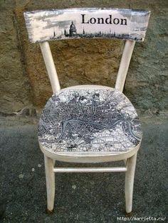 Decoupage y la pintura de la vieja silla. Ideas (72) (413x550, 177Kb)