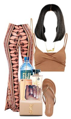 A fashion look from August 2017 featuring bralet crop top, glitter flats and yves saint laurent handbags. Browse and shop related looks. Swag Outfits For Girls, Teenage Girl Outfits, Cute Swag Outfits, Cute Comfy Outfits, Teenager Outfits, Teen Fashion Outfits, Look Fashion, Stylish Outfits, Really Cute Outfits