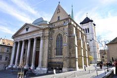 Собор Святого Петра - пожалуй главная достопримечательность в Женеве. И самое интересное в нем связано не с религией, а с уникальной архитектурой. Швейцария