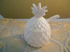 Vintage Imperial Milk Glass Pineapple Jar