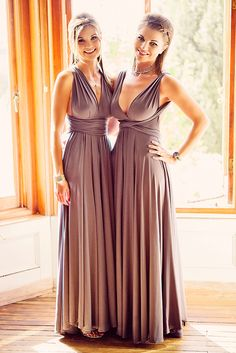 Infinity wrap dress in black for bridesmaids http://www.convertiblewrapdress.com/maxi-convertible-black/