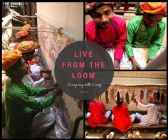 Some insight into the intricate weaving process and the weavers that bring our #rugs to life #handmade #loomlife #india