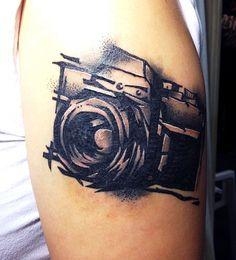 tattoo drawing tatuointi piirustus tattoodesign abstract graphic black kamera camera #tua53tattoo
