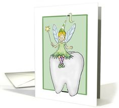 From Tooth Fairy card: Tooth Fairy - Lost Tooth Greeting Card by Gerda Steiner