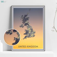 This item is unavailable Office Wall Decor, Wall Art Decor, United Kingdom Map, New York City Map, Map Shop, Country Maps, Skyline Art, Custom Map, All Poster