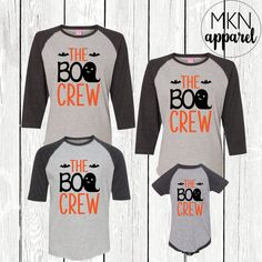 82e00ad0 The Boo Crew, Family Halloween Shirts, Ghost Shirts, Cute Halloween Shirt