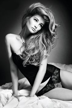 Fashion model, long hair