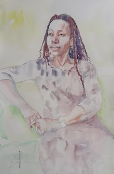 Beulah #watercolour on 300gm Arches Hot Pressed #Portrait 560x380mm