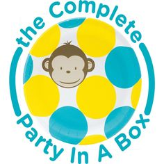 Mod Monkey Blue 1st Birthday Party in a Box from BirthdayExpress.com