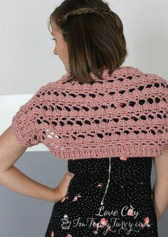 lacy shell stitch shrug pattern