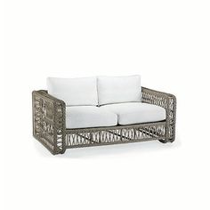 Meridian Loveseat With Cushions - Bermuda Breeze Tropical, Special Order - Frontgate