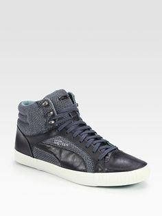 PUMA by Alexander McQueen cotton and leather sneakers