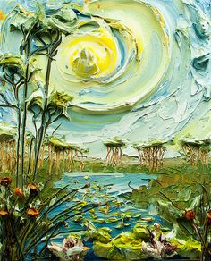 24x30 Lakescape By: Justin Gaffrey