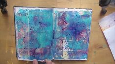 Short video tutorial for creating an interesting and textured layered background in your art journal. Materials used: -masking tape -acrylics in 2 colours -k...