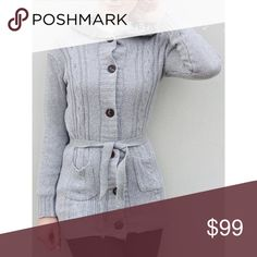 COMING SOON WOMENS SWEATER HOODIE COAT OS Bust 37 inches, length 28 inches, shoulder width 16 inches, sleeve length 24 inches.  Women's Long Sleeve Hoodie Coat Cardigan Trench Sweater - Gray. Sweaters Cardigans