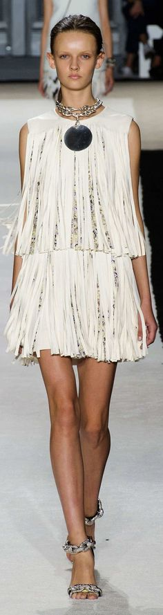 Giambattista Valli Collection Spring 2015 - on the fringe.
